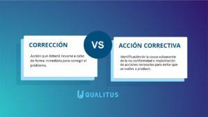 corrección vs acción correctiva